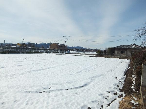 土地家屋調査士の冬の現場